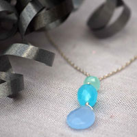 winter blues necklace